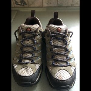 Merrell continuum hiking sneakers.